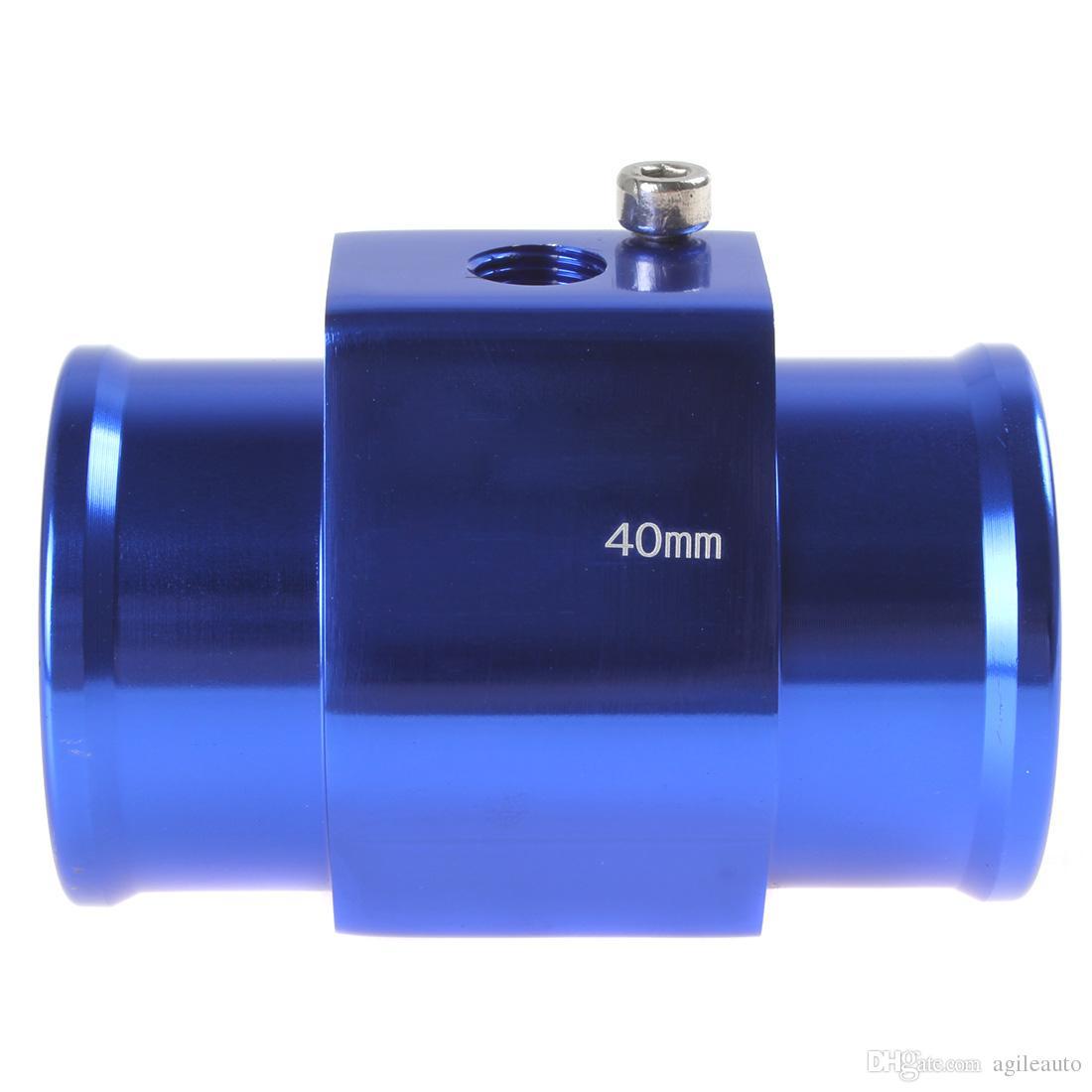 Blue Color Auto Car Water Temperature Sensor Adapter Water Temp Gauge Meter 40mm Aluminium with Clamps CEC_519