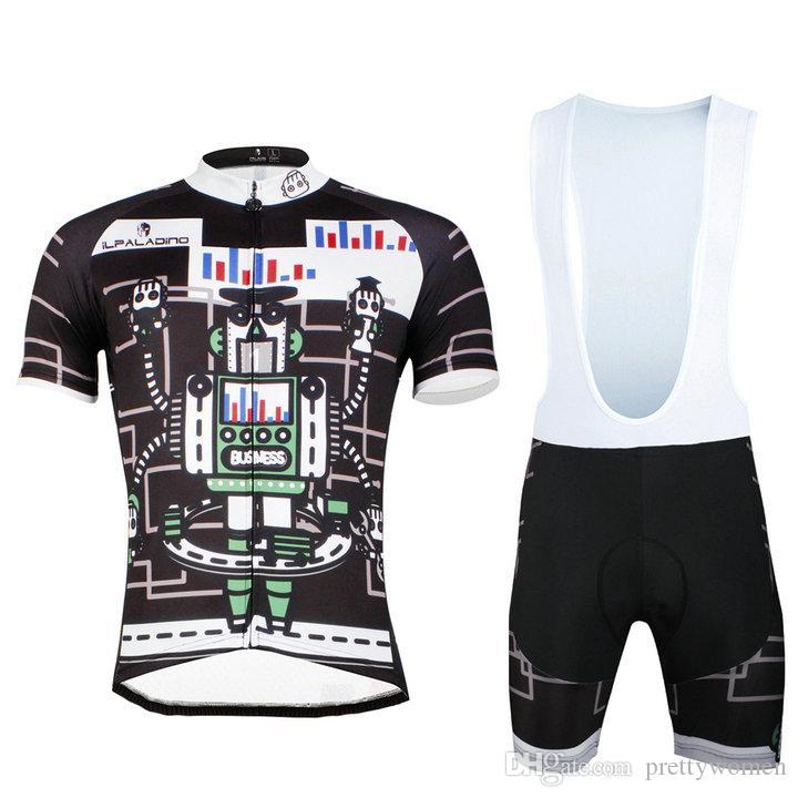 Geniune InPaladino ROBOT hombres de secado rápido transpirable 2017 verano transpirable ciclismo Jersey Bike Ropa Racing Ropa de bicicleta Maillot