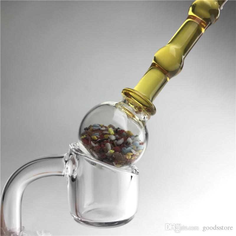 5 인치 유리 dabber 도구 다채로운 두꺼운 pyrex 기화기 물 파이프 흡연 carb 캡 물 파이프에 대 한 오일 왁스 DAB 도구