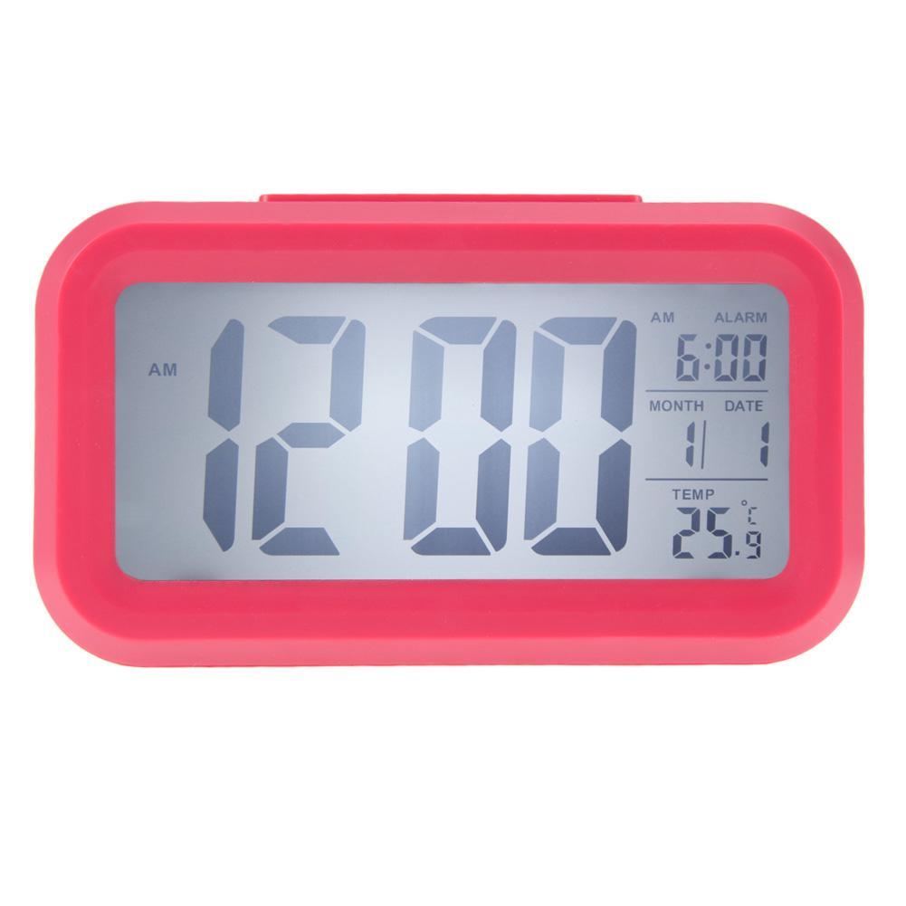 Data Hora Despertador Temperatura Mostrador LED Despertador Luz-ativado Sentido Soneca Função Calendário Relógio Digital Reveil