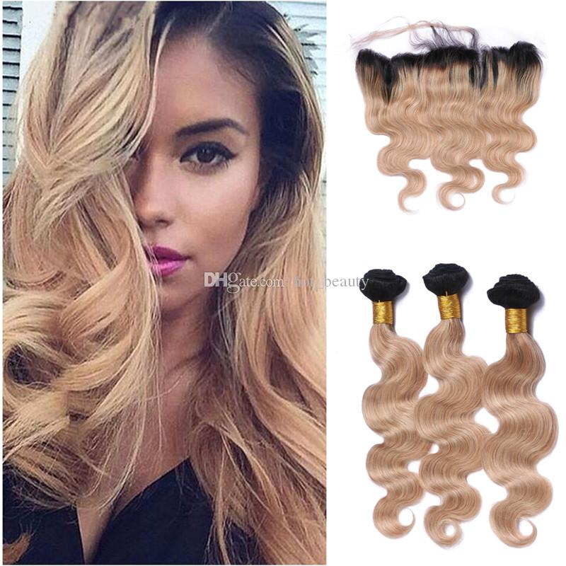 2018 Factory Outlet 9a Ombre Hair Extensions 1b 27 Honey Blonde