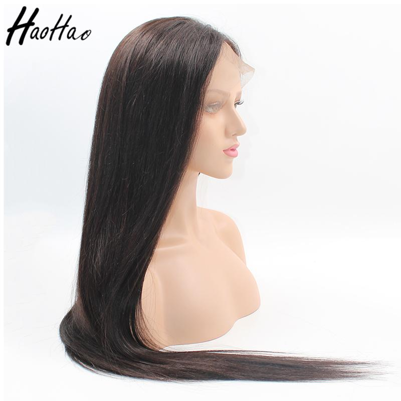 Top selling lace frontal Wig and full lace unprocessed human hair wig for black women Glueless Customized