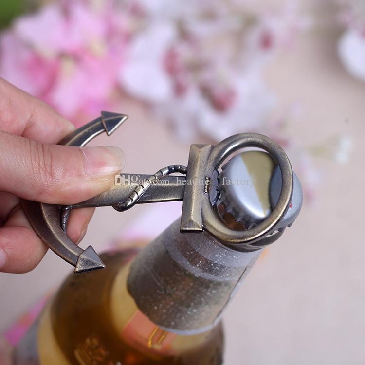 Ancre En Forme De Chrome Ouvre-bouteille Giveaways Coppery Openers De Bière Faveurs De Mariage Fournitures Vin Favor Noël Cadeau Nouveau