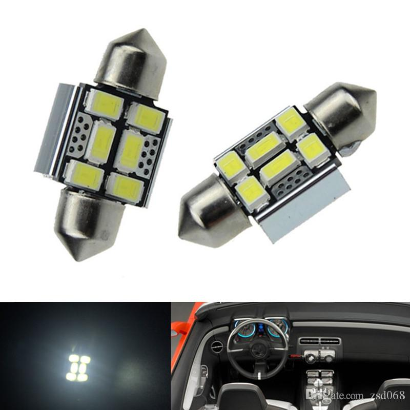 20x الأبيض 6smd 31 ملليمتر 36 ملليمتر 42 ملليمتر سيارة led اكليل المصابيح لسيارة قبة خريطة ضوء DE3175 DE3022