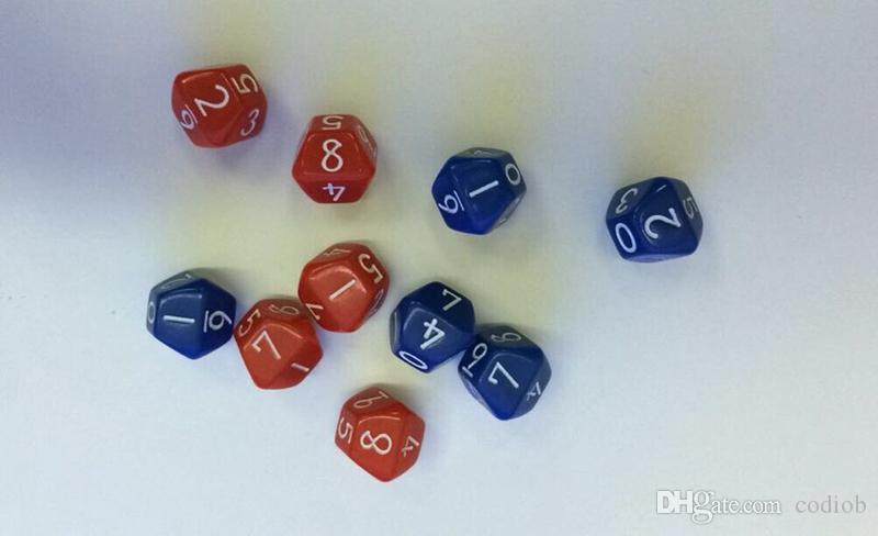D10 10-сторонние многогранные кости 0-9 Развивающие аксессуары DD RPG Игры в кости Дети Fun Настольные игры Разноцветные Хорошая цена Высокое качество # P51