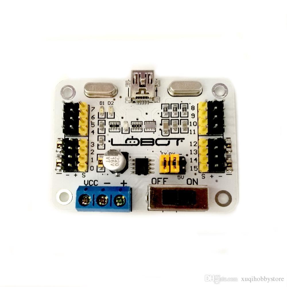 16 Channels Robot Servo Control Board /16 road servo controller/robot arm  control /mini usb /with switch/Arduino/C