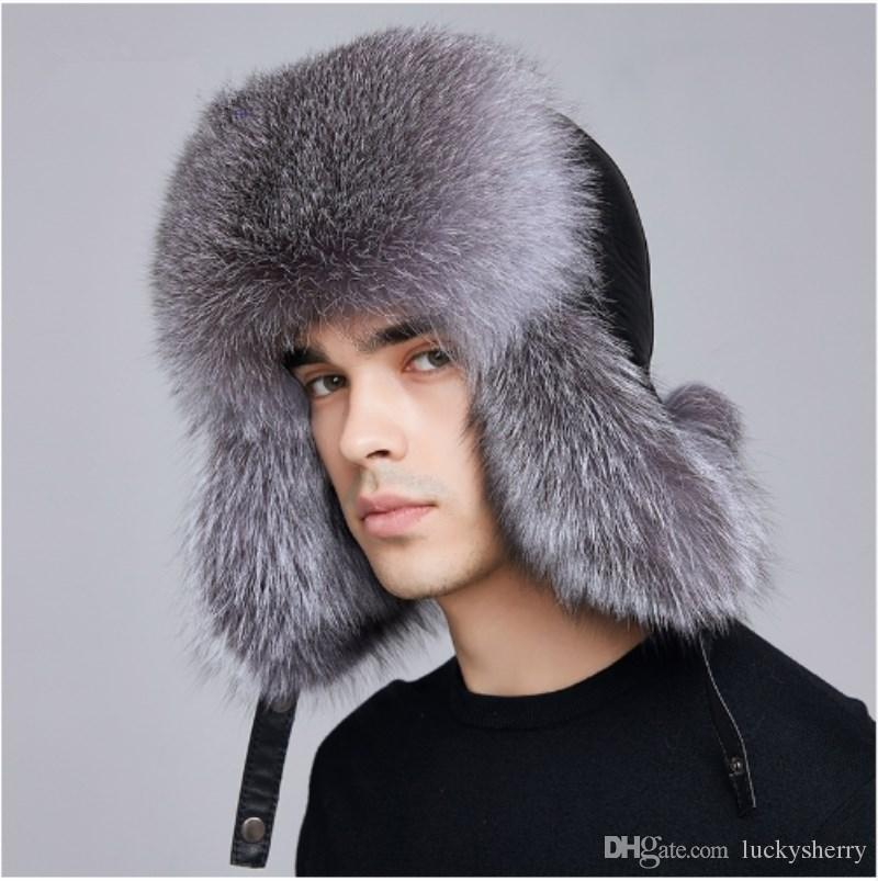 2019 LUCKYFUR Winter Hat Earflap Men Real Fox Fur Hats Russian Ushanka Fur  Protect Ear Warm Enough High Quality Bomber Hat FXM17504 From Luckysherry 78adb3b757a5