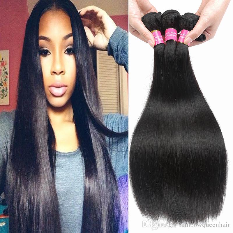 Rainbow Queen Real Brazilian Human Hair Weaves Cheap Brazilian Virgin Human  Hair Bundles Natura Color Unprocessed Brazilian Bundles Straight Hair Weave  ... c78700081131