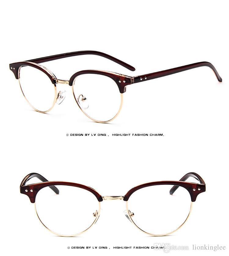 Vintage Optique Lunettes Cadre Gafas Lunettes Lunettes Oculos Cadre Rétro Eyewea Cadre Clair Lentille 8029