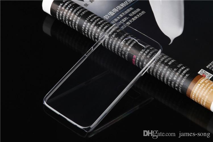 Samsung Galaxy S3 S4 S5 S6 bordo S7 S8 plus mini note 2 3 4 5 Custodia rigida trasparente PC trasparente