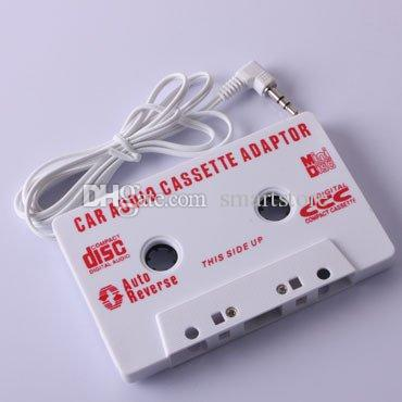 3.5mm Jack Car Audio Cassette Tape Adapter for MP3 Player CD Cell Phone White Black 0001