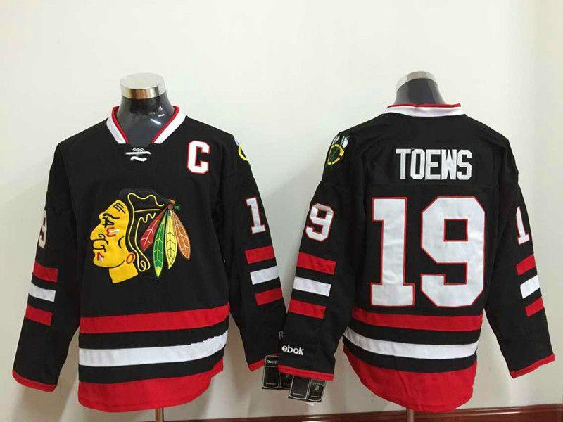LNH Chicago Blackhawks # 19 Jonathan Toews Blanc Rouge Vert Noir Gris Camo Classique D'hiver Surpiqué Logo Maillots De Hockey LNH