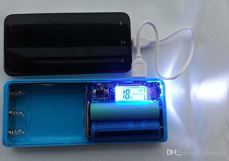 DIY Cell Box Портативный внешний аккумулятор Зарядное устройство для мобильного телефона Power Bank Box Shell 5 х 18650 DIY Power Bank с ЖК-дисплеем