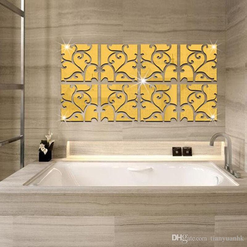 Acrylic Home Decorative Patterns Combination Of Mirror Wall Stickers ...