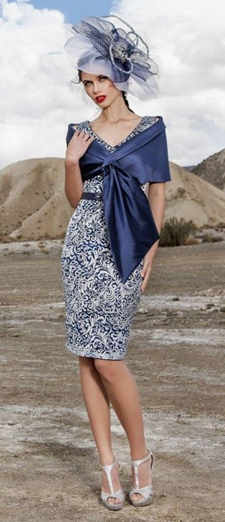 Bleu marine mère de la mariée robes v cou sans manches gaine en dentelle longueur de genou blanc robes de mariage élégant avec veste