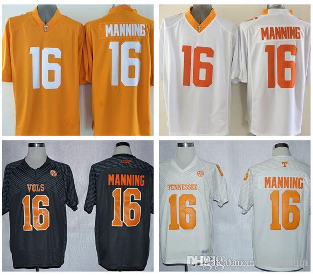 fdf3f6dbc ... 2017 New Tennessee Volunteers Jerseys 16 Peyton Manning Jersey Football  College Shirt Men Youth Kids Yellow ...