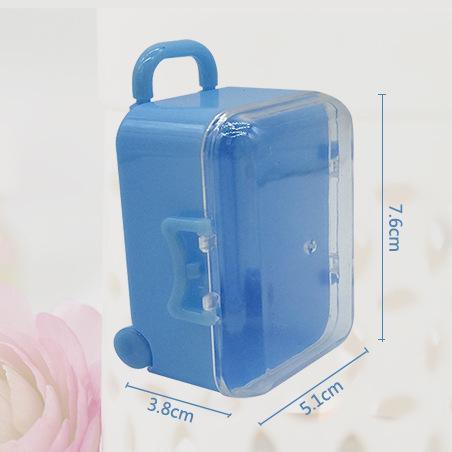 Acryl Klar Mini Roll Reise Koffer Pralinenschachtel Baby Shower Hochzeit Gefälligkeiten Party Tischdekoration Lieferungen Geschenke