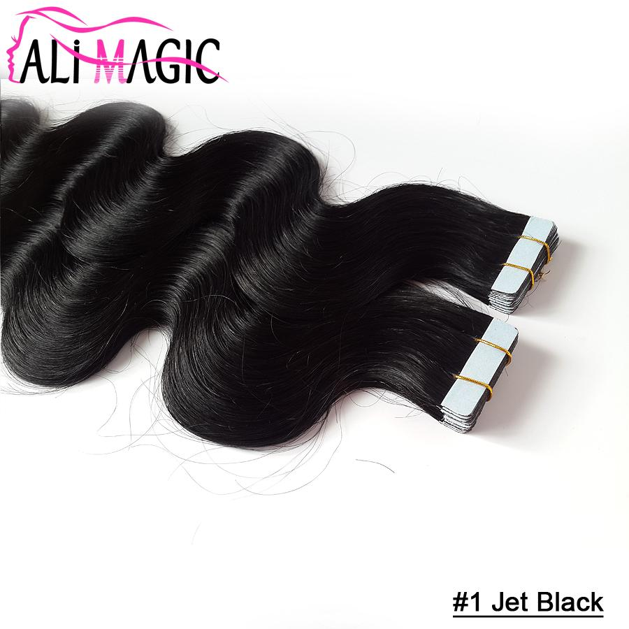 High Quality Hot Selling Brazilian Virgin Hair Body Wave Pu Skin Weft Tape Human Hair Extensions 18''20''22''24''inch Ali Magic Wholesale