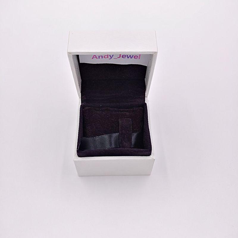 Authentic White Paper Boxes Black Pillow Inside Packaging für Pandora Style Schmuck Charms Perlen Murano