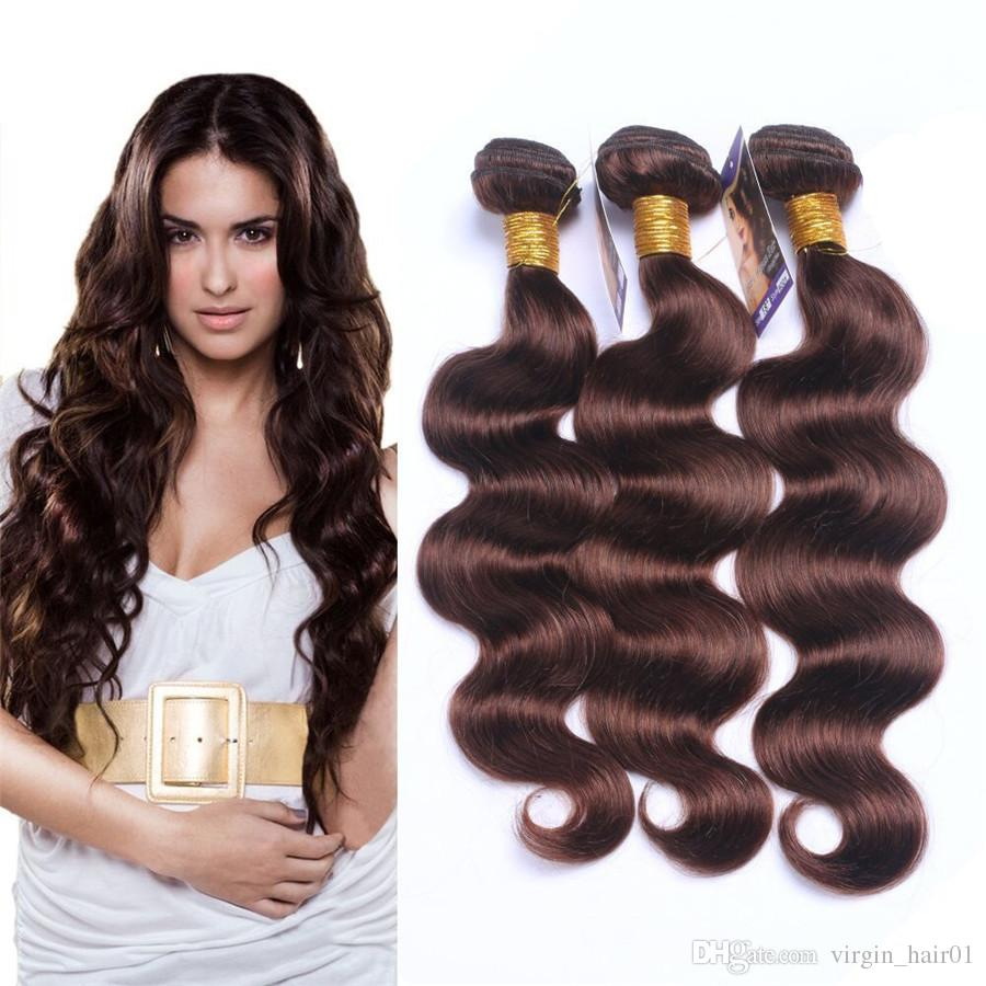 2018 Brazilian Body Wave Virgin Human Hair Extensions Dark Brown 2