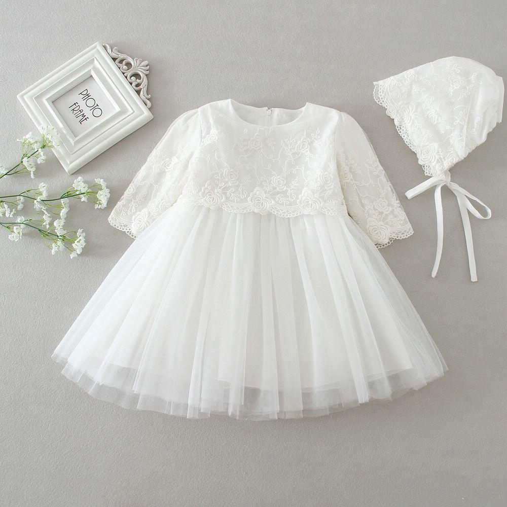 Compre Vestido De Bautizo De Beb 233 Reci 233 N Nacido Vestido De