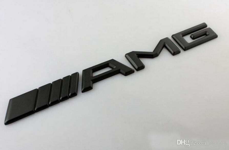 Carro Prata Cromo Preto 3 M AMG Decal Adesivo Emblema Do Logotipo Emblemas para Mercedes CL GL ML ML A B C E Sclass