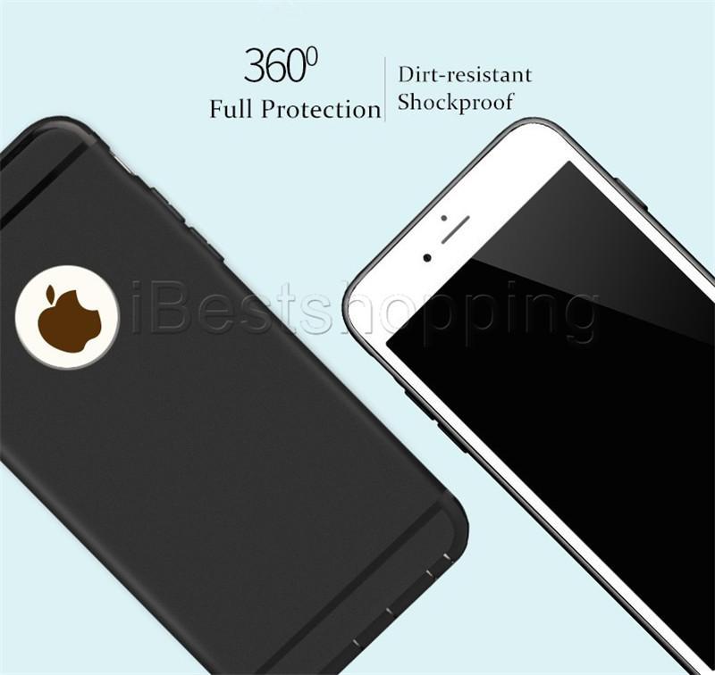 Soft Slim Case TPU Силиконовая крышка Матовый Телефон Шкафы Скорбовые с пылью для iPhone 12 Mini 11 Pro Max X XR XS MAX 8 7 6 6S PLUS