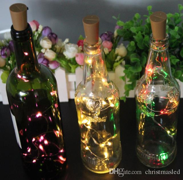 christmas led light 2M 20LED Lamp Cork Shaped Bottle Stopper Light Glass Wine LED Copper Wire String Lights For Xmas Party Wedding Halloween