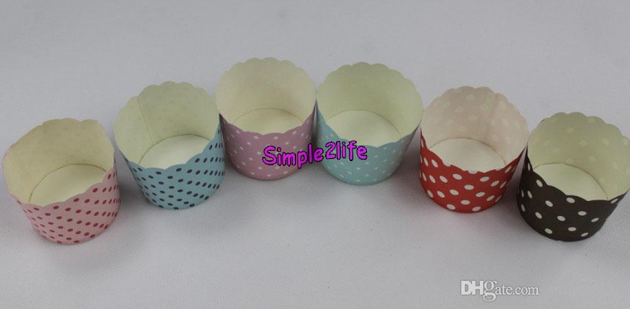 Round Paper Cupcake Cases Baking Muffin liner Ice cream cup mold mould Wrapper Dessert for cupBirthday wedding Party