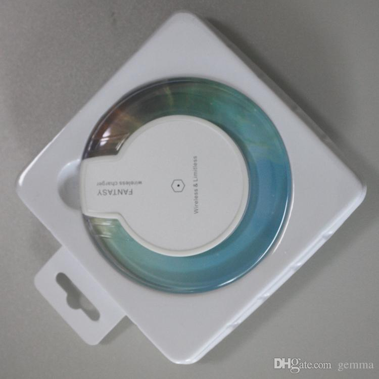Venta caliente mejor calidad Qi cargador inalámbrico Charger Pad Mini para Samsung S6 S7 Edge Plus S8 HTC Nokia etc. US02 de gemma