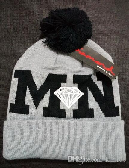 Cheap Wholesale Unisex Winter Hat Cap Men Women Knitted Diamond Beanie Wool  Hats Skullies Warm Beanies New Gorro Bonnet Caps Watch Cap Fitted Caps From  ... 12f8e44fd5b