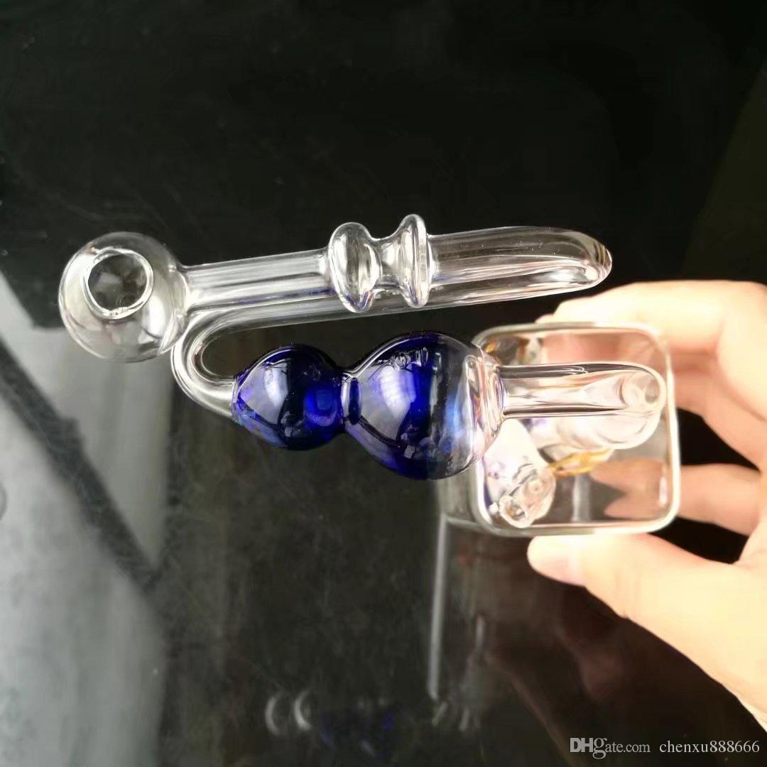 Accessori bong zucca a forma di Z a colori, Bruciatore a olio unico Tubi di vetro Bong Tubi d'acqua Rigs di olio tubi di vetro Fumo con contagocce