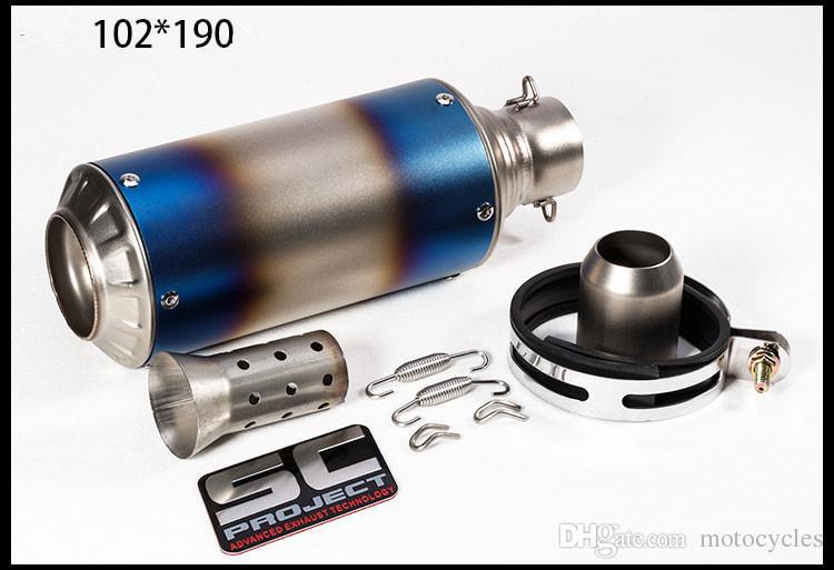 Motorcycle Muffler Exhaust Pipe SC 51MM Modified Muffler Exhaust Pipe For kawasaki CBR250 CB400 CB600 Auto Exhaust Muffler