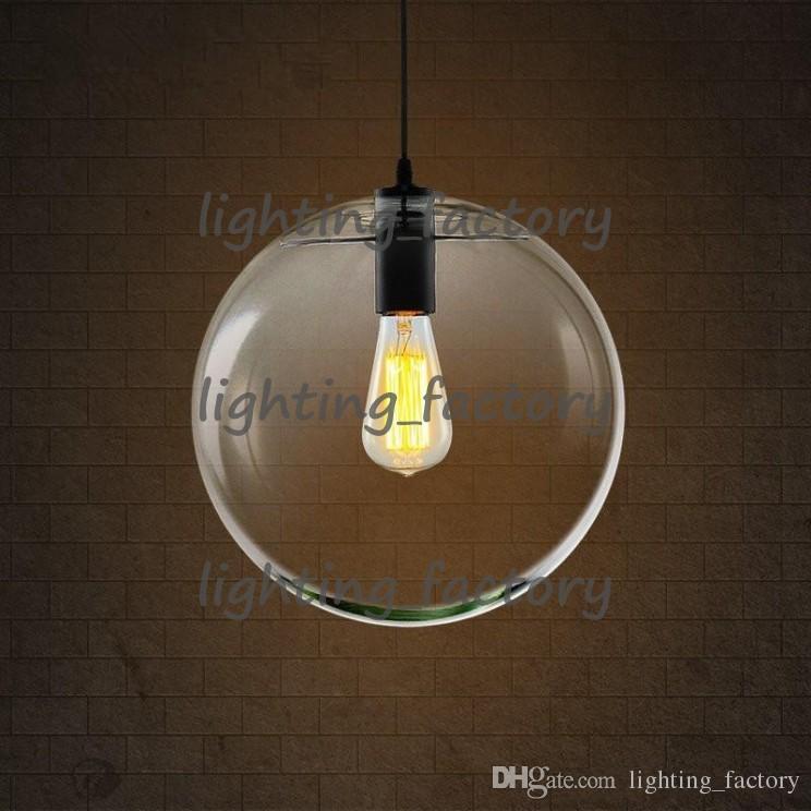 Moderno Nordic Lustre Globe Lampade a sospensione Glass Ball Lamp shade Lampada a sospensione E27 Sospensione Lampade da cucina Illuminazione domestica
