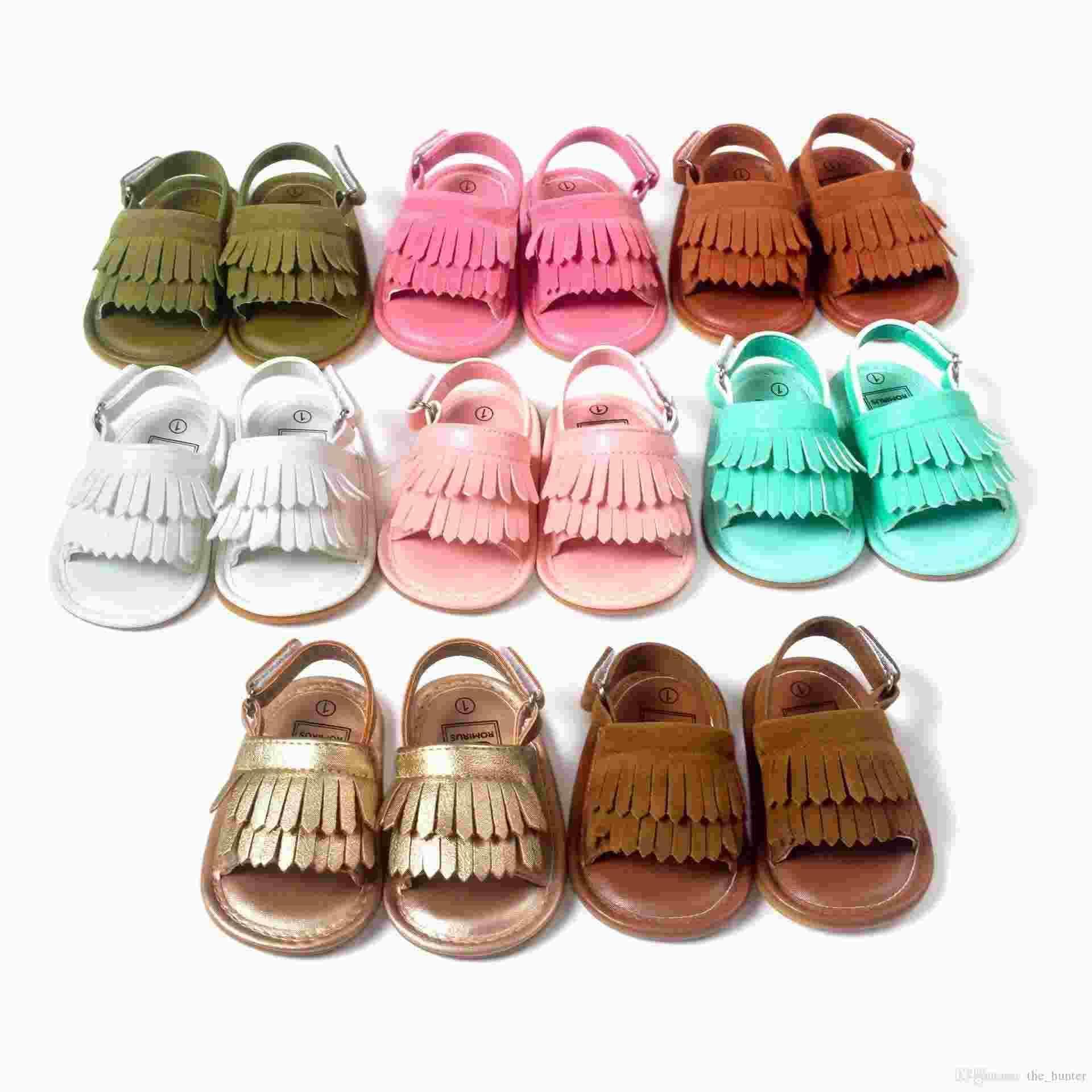 93026ded82e52 Acheter Kid Tassel Chaussure Sandale Chaussures Bébé Chaussures Enfants Sandales  Infant Chaussures Garçons Filles D été Sandales Enfants Chaussures Toddler  ...