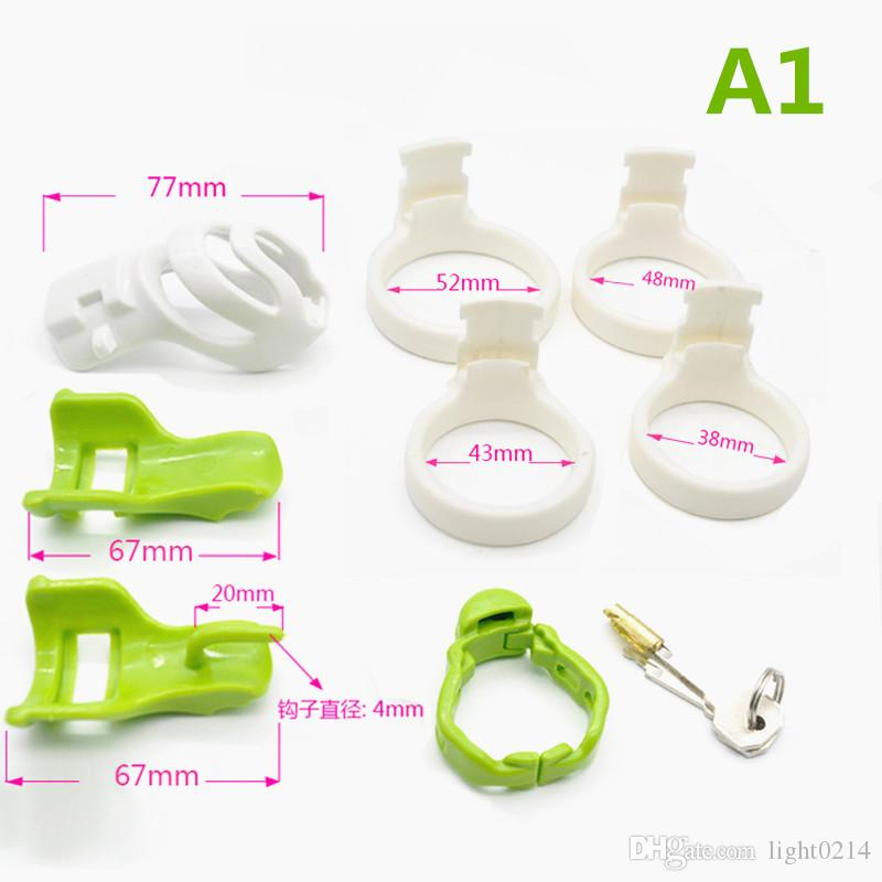 Male Chastity Device Chastity Cage Cock Cages Penis Cage Anti-off Ring Adult Sex Toys for Men Sex Toys G7-2-16