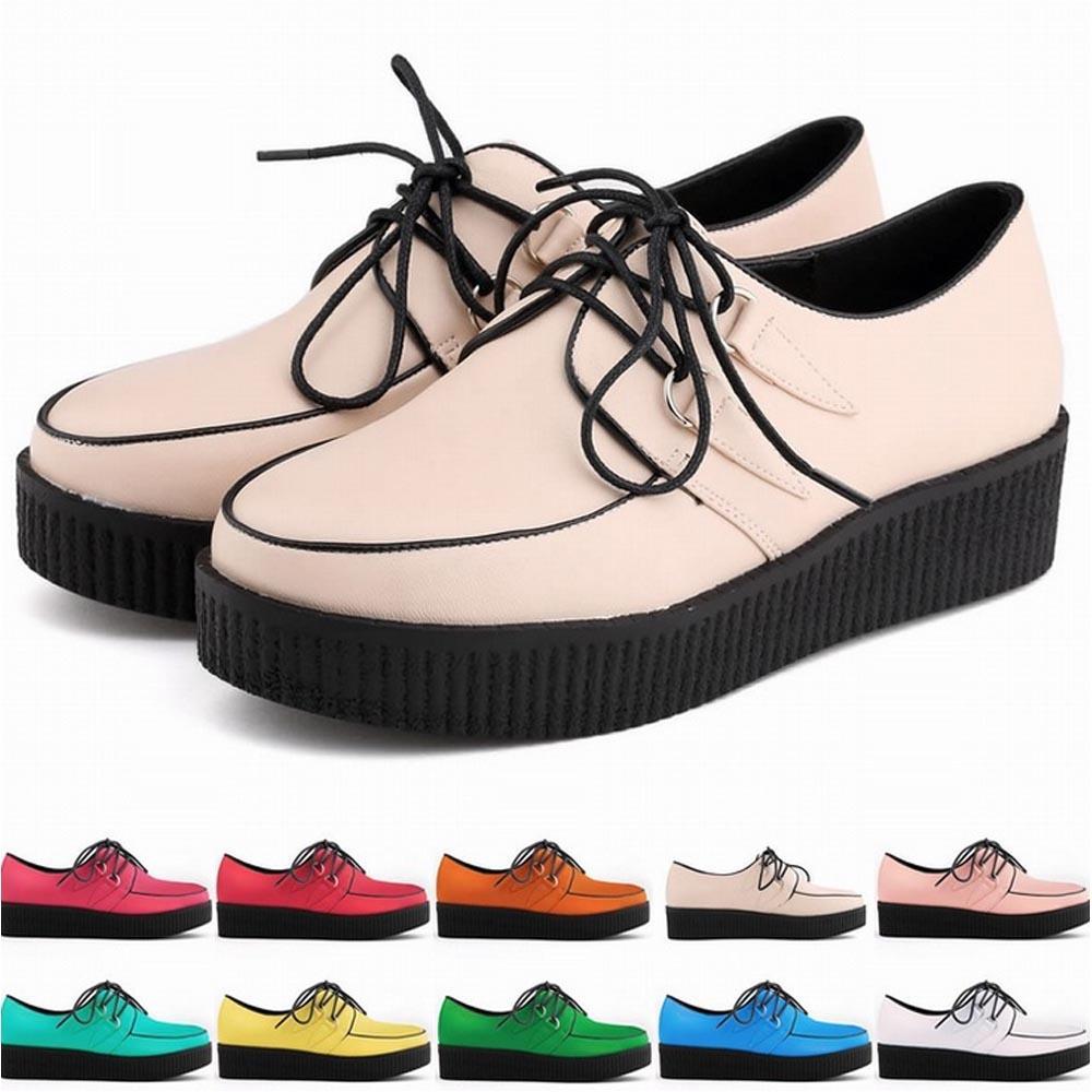Damen Creepers De Compre Zapatos Mujer Schuhe EAwqfpq