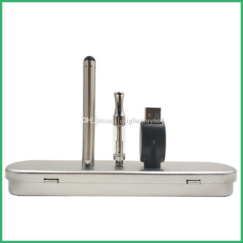 Cartucho de vidro de bobina de cerâmica kit de caixa de bateria de toque e cartuchos de cigarro de cera de óleo de CO2 canetas de tanque ce3 caneta vaporizador vape bateria com atomizador