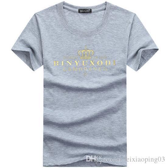 Vêtements pour hommes d'été Mode Fitness t-shirt Muscle mâle manches courtes Slim Cotton Tee tops apparel