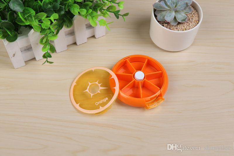 Health Care Medicine Pill Box Fruit Shaped Sort Vitamin 7 Day Weekly Holder Tablet Storage Case Container Cases Travel Round ZA2144