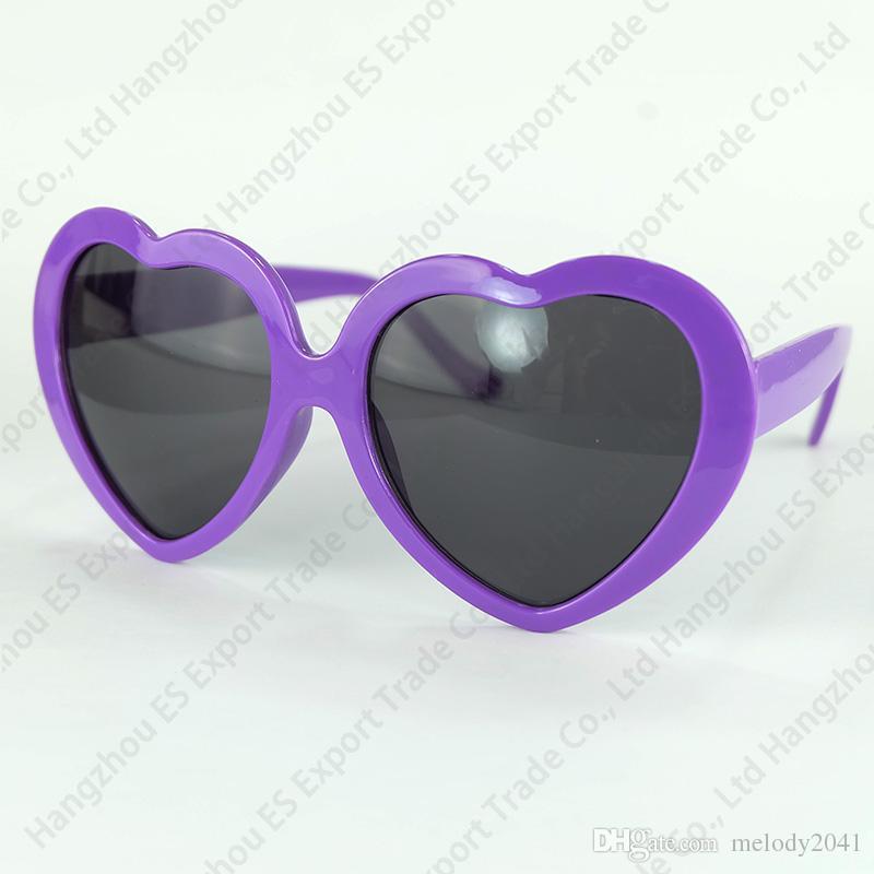 DHL nave i moda donna ragazza estate a forma di cuore occhiali da sole lolita partito spiaggia sole ombra cuore occhiali uv400