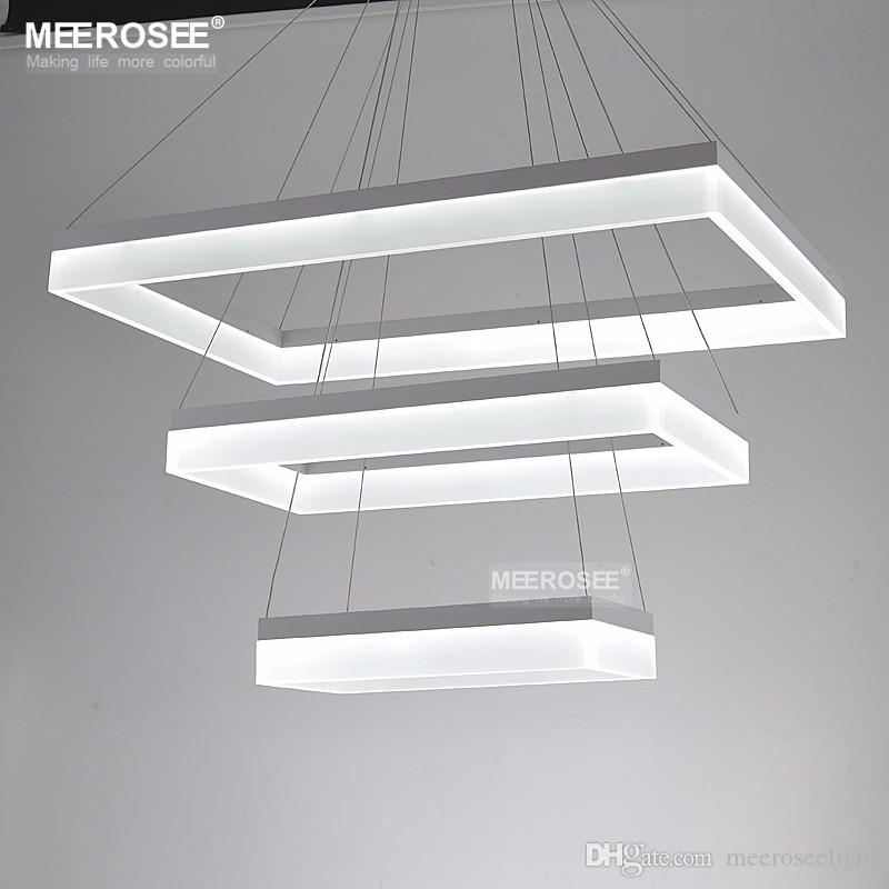 Modern Led Chandelier Lights Acrylic 3 Rectangles Led Suspension