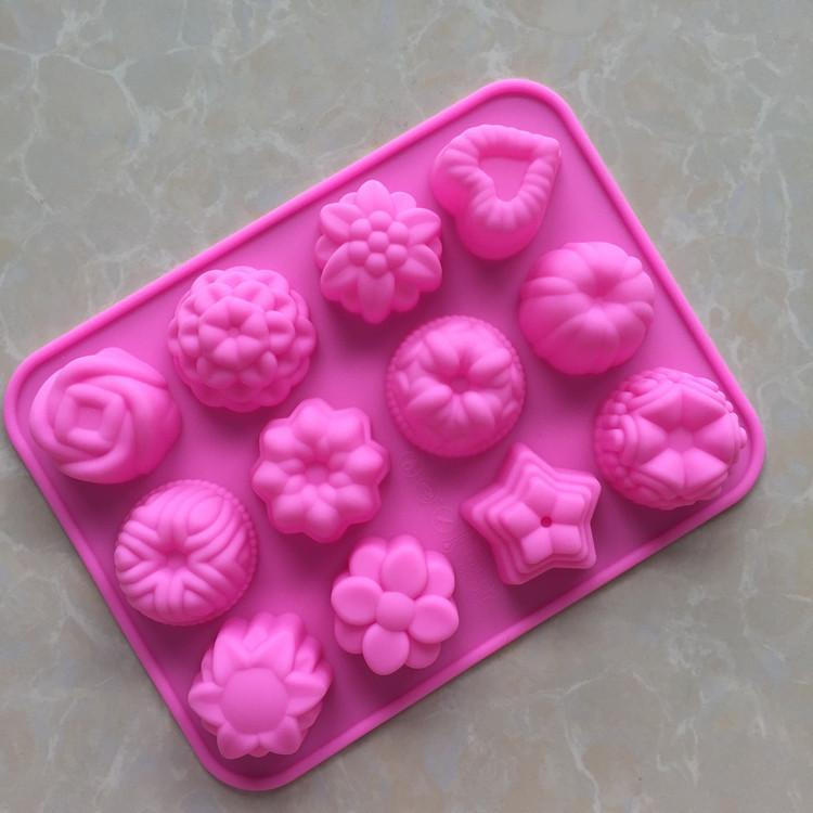 Flower Silicone Cake Mold Fondant Chocolate mold 3D Cake decorating tool kitchen baking tool