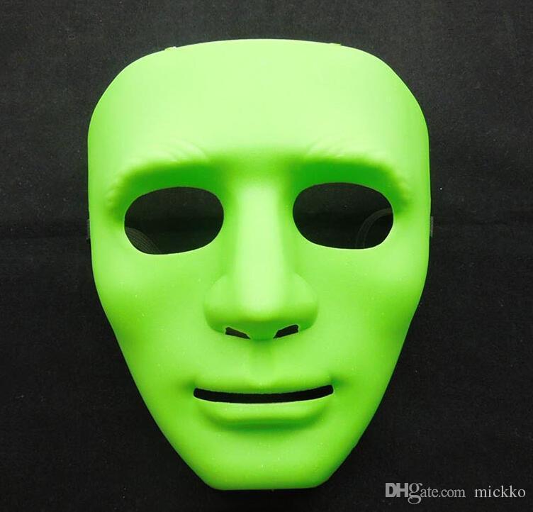 Cadılar bayramı Partisi Tam Yüz Masquerade Maskeleri Bboy Hip-Hop PVC Maskeleri JabbaWo Sokak Dans Maskesi Kırmızı Siyah Beyaz Mavi Yeşil