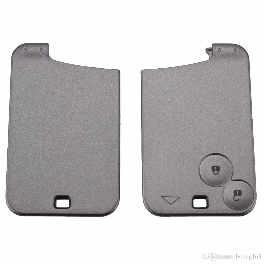 Guaranteed 100% 2 Buttons Smart Card For Renault Laguna Espace Car Key Blank Shell Case Cover With Blade