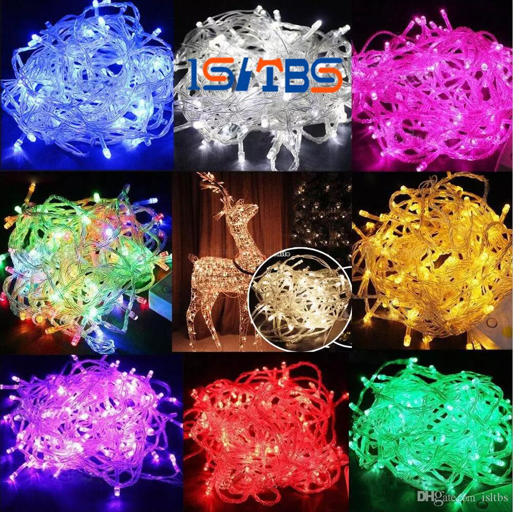 led strips 10m string decoration light 110v 220v for party wedding led twinkle lighting christmas decoration lights string porch string lights rose string - Led Light Christmas Decorations