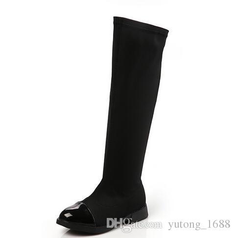 e73e03577414 2018 New Hot Parent Child Shoes Princess Elegant Shoes Girl High Leg Boots  Children S Snow Child Ever After High Boots Kids Rubber Boots Girls Boots  Size 5 ...