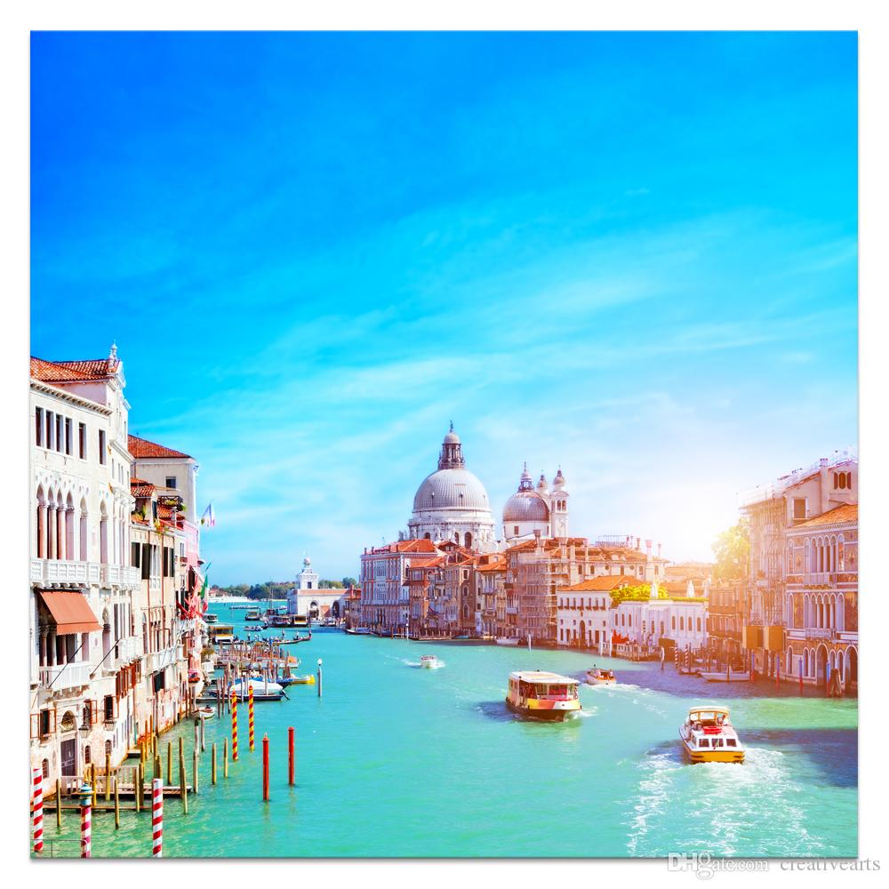 2018 Watertown Of Italy Venice Landscape Canvas Painting Hd Photo ...