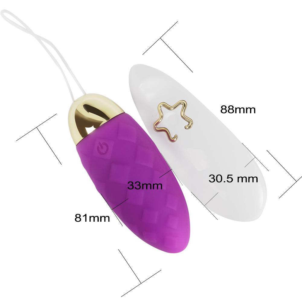 IKOKY Télécommande Sans Fil Vibrant Oeuf 10 Fréquence Adulte Produits Sex Toys pour Femme Vibrateur USB Rechargeable Silicone