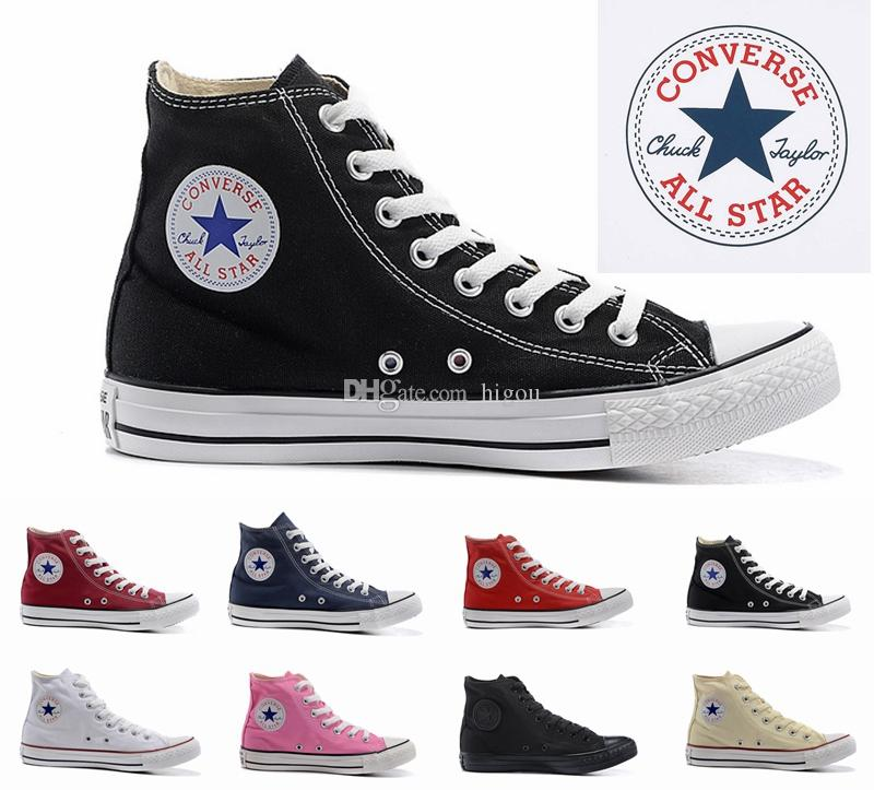 a53dea93ee17 2018 Converse Chuck Tay Lor All Star Designer Canvas Skateboard Shoes Mens  Womens High Top Classic Converses Skate Casual Running Sneakers Geox Shoes  Cheap ...